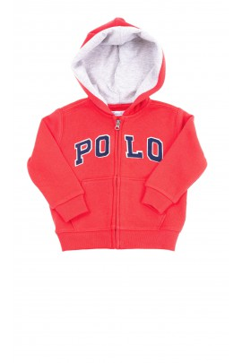 Red sweatshirt for boys, Ralph Lauren