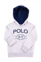 Grey hoodie for kids, Polo Ralph Lauren