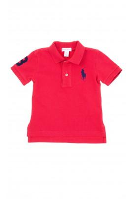 Brick red short-sleeved Polo for boys, Polo Ralph Lauren
