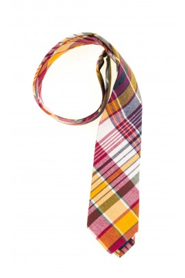 Yellow-red plaid tie for boys, Polo Ralph Lauren