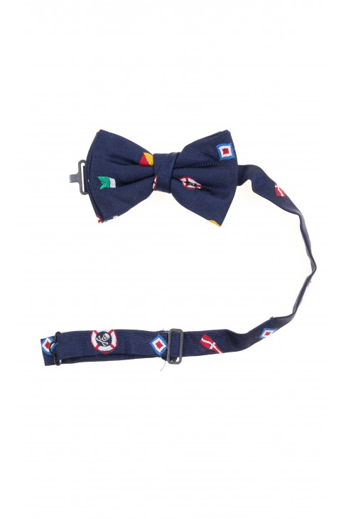 Patterned navy blue bow tie, Polo Ralph Lauren