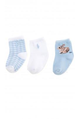 3-pack baby socks, Ralph Lauren
