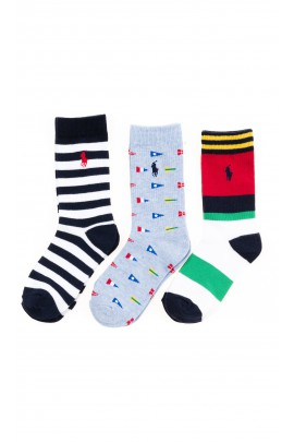 Socks for boys 3-pack, Polo Ralph Lauren