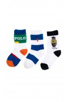 Socks for boys with the iconic 3-pack bear, Polo Ralph Lauren