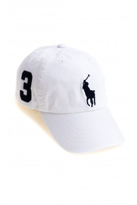White baseball cap, Polo Ralph Lauren