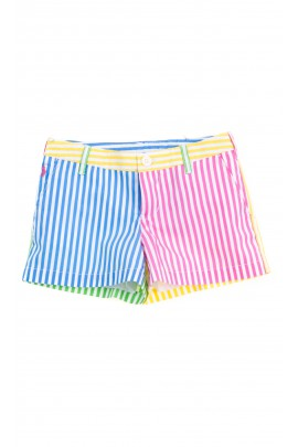 Colourful striped shorts for girls, Polo Ralph Lauren