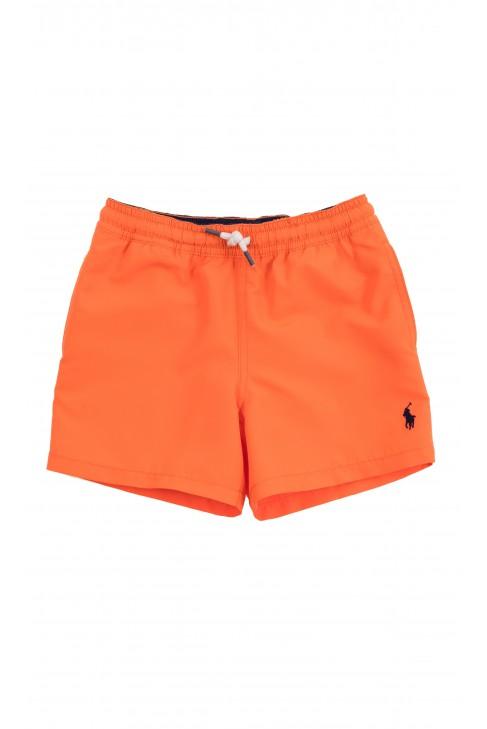 Orange swimming shorts for boys, Polo Ralph Lauren