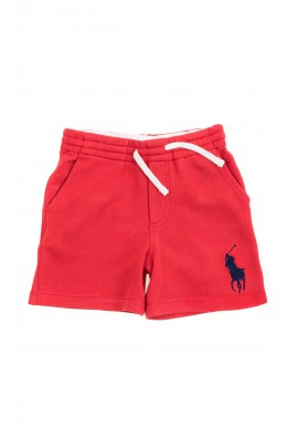 Red sports shorts for boys, Polo Ralph Lauren