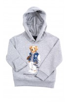 Grey sweatshirt with iconic teddy bear on the front, Polo Ralph Lauren