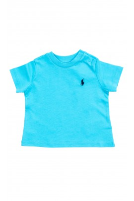 Turquoise classic T-shirt for boys, Polo Ralph Lauren