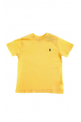 Yellow classic T-shirt for boys, Polo Ralph Lauren