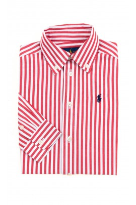 White and red vertical striped shirt for boys, Polo Ralph Lauren