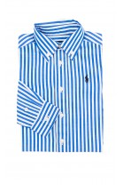 White and blue vertical striped shirt for boys, Polo Ralph Lauren