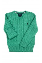 Green cable stitched sweater, Polo Ralph Lauren
