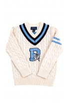 Ecru V neck sweater for boys, Polo Ralph Lauren