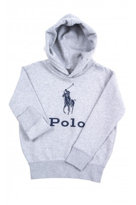 Grey hoodie with POLO slogan, Polo Ralph Lauren