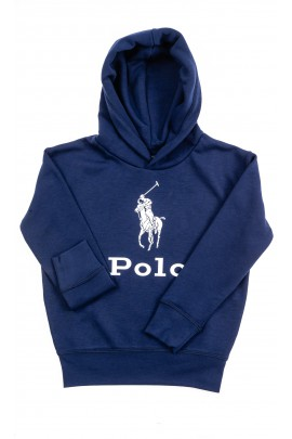 Navy blue hoodie with POLO slogan, Polo Ralph Lauren