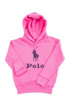 Pink hoodie with POLO slogan, Polo Ralph Lauren