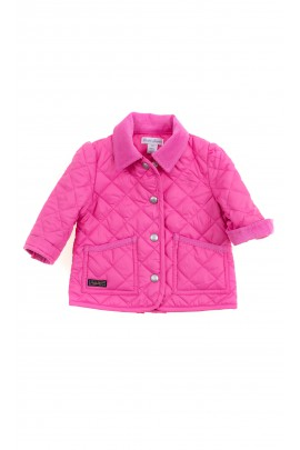 Pink transitional quilted jacket for girls, Polo Ralph Lauren
