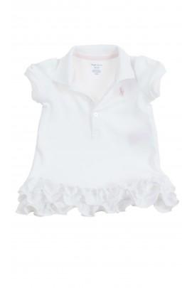 White baby dress with frills, Ralph Lauren