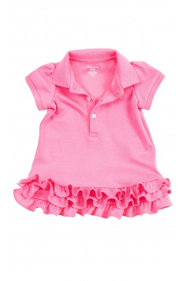 Pink baby dress with frills, Ralph Laure