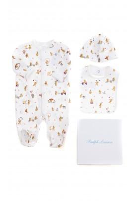 Baby set: romper, cap, bib, Ralph Lauren