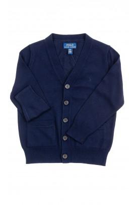 Navy blue cardigan for boys, Polo Ralph Lauren