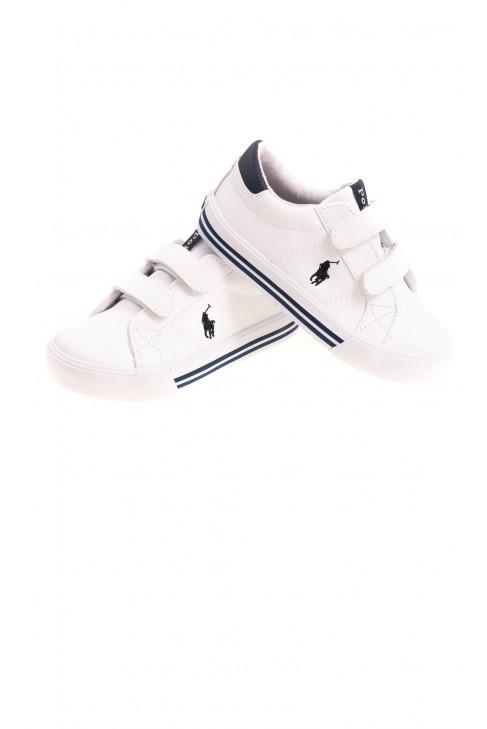 White three Velcro trainers, Polo Ralph Lauren