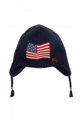 Navy blue pilot hat for boys, Polo Ralph Lauren