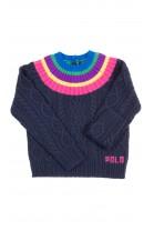 Navy blue warm sweater for girls, Polo Ralph Lauren