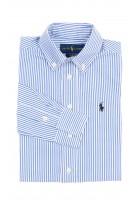 Elegant white and blue striped shirt for boys, Polo Ralph Lauren