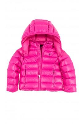 Pink down jacket for girls, Polo Ralph Lauren