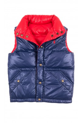 Navy blue and red down vest for boys, Polo Ralph Lauren