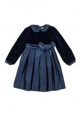 Navy blue elegant dress, Mariella Ferrari