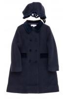 Navy blue coat, Mariella Ferrari