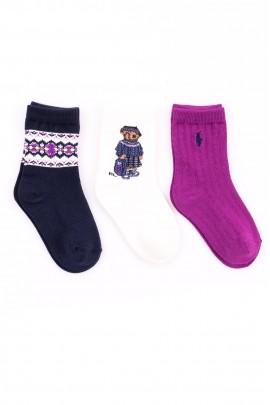 Girls' socks with the iconic teddy bear, Polo Ralph Lauren