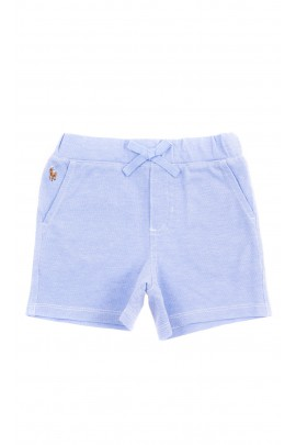 Blue cotton shorts for babies, Ralph Lauren