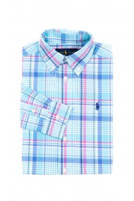 Blue checked shirt for boys, Polo Ralph Lauren