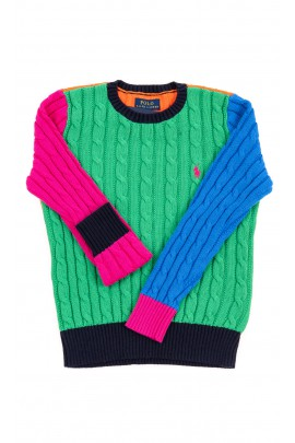 Colourful jumper for girls, Polo Ralph Lauren