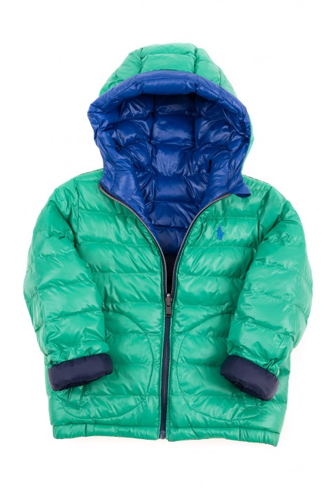 Reversible navy and green insulated jacket, Polo Ralph Lauren