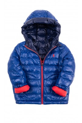Reversible sapphire and red insulated jacket, Polo Ralph Lauren