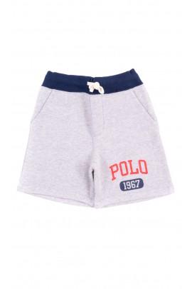 Gray sweat shorts for boy, Polo Ralph Lauren
