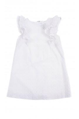 White summer openwork dress for girls, Polo Ralph Lauren
