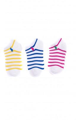 3-pack of striped liner socks for girls, Polo Ralph Lauren