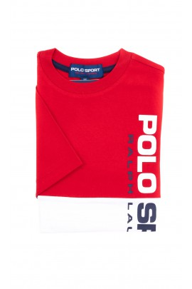 T-shirt red and white POLO SPORT for boys, Polo Ralph Lauren
