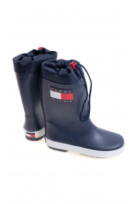 Navy blue rain boots for kids, Tommy Hilfiger