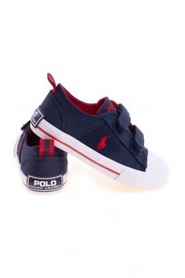 Navy blue Velcro sneakers for kids, Polo Ralph Lauren