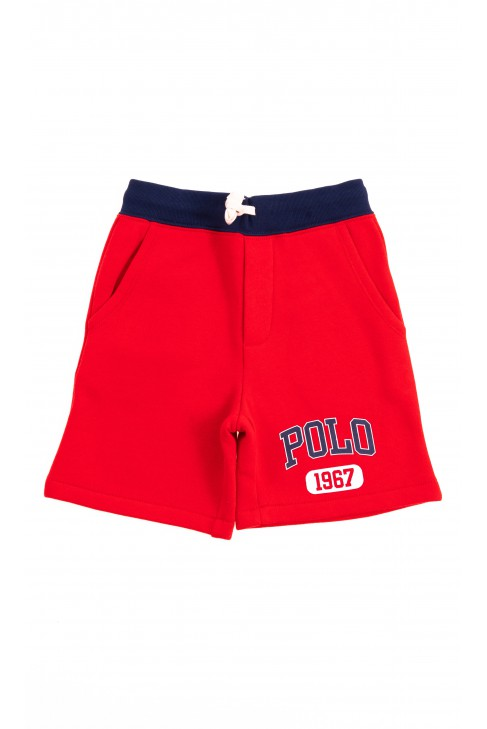Red sweat shorts, Polo Ralph Lauren
