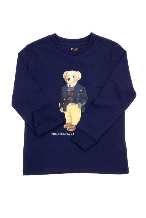 Navy blue longsleeve with teddy bear, Polo Ralph Lauren