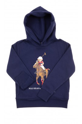 Navy blue hoodie with iconic teddy bear, Polo Ralph Lauren